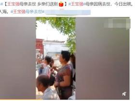 王宝强母亲脑瘫去世!出殡现场哭到站不起,村民搀扶前行