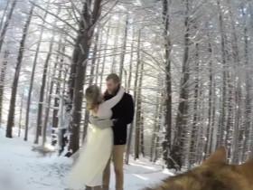 新婚夫妻让一只哈士奇拍结婚录像 没想到效果还不错