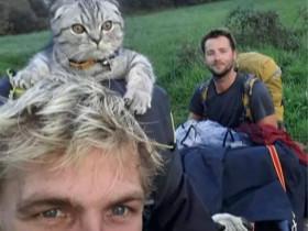 两个帅哥带上一对猫狗去西班牙旅行 照片让人很羡慕