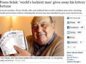 世界上最倒霉的人也是最幸运的 七次大难不死