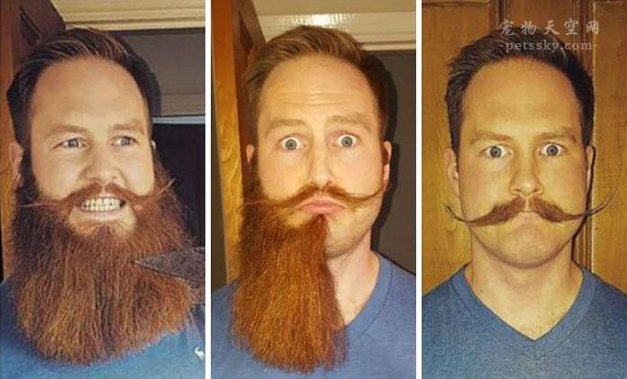 男人刮胡子前后的对比照片,大叔变成帅气的小伙(25张)