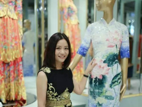 这个姑娘被评为全球最有影响力的人,只因做出了一件中国嫁衣