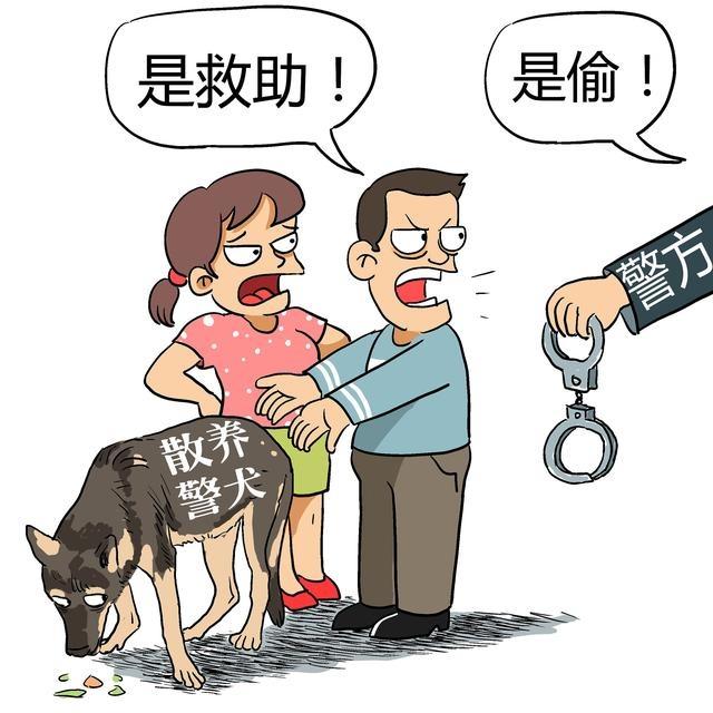"""救助流浪狗的好心人,还是偷盗警犬的""""贼"""""""