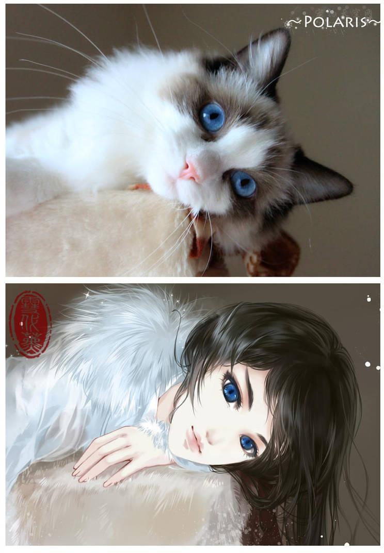 """将宠物""""幻画""""成古风少年,国内的一位古风水墨画师的作品"""