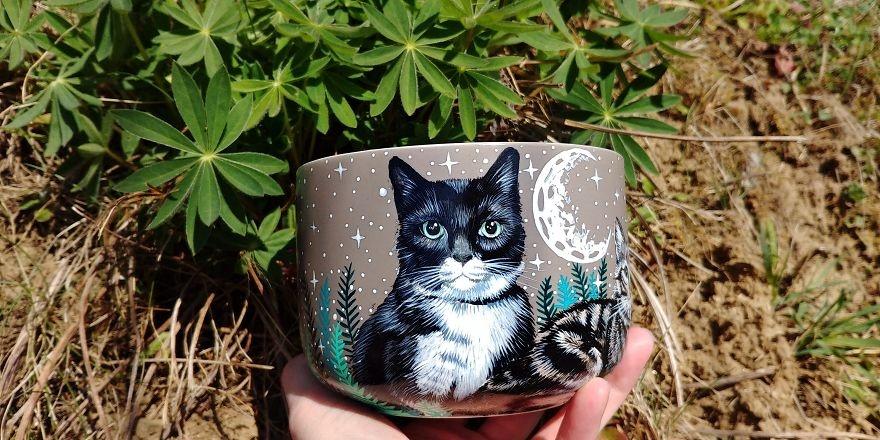 手工绘制宠物杯子(30张)