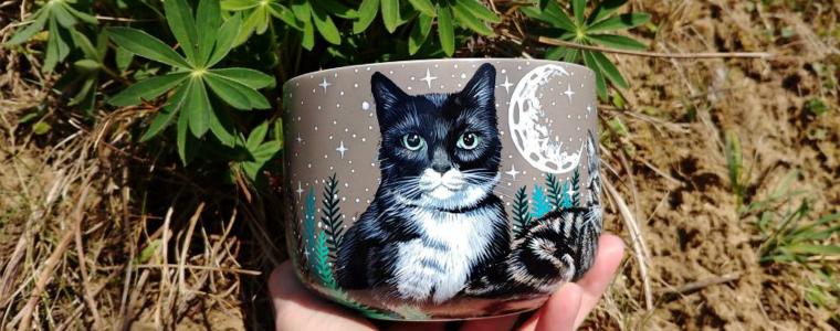 """将宠物绘画在杯子上的创意,可能比""""猫爪杯""""还有市场"""